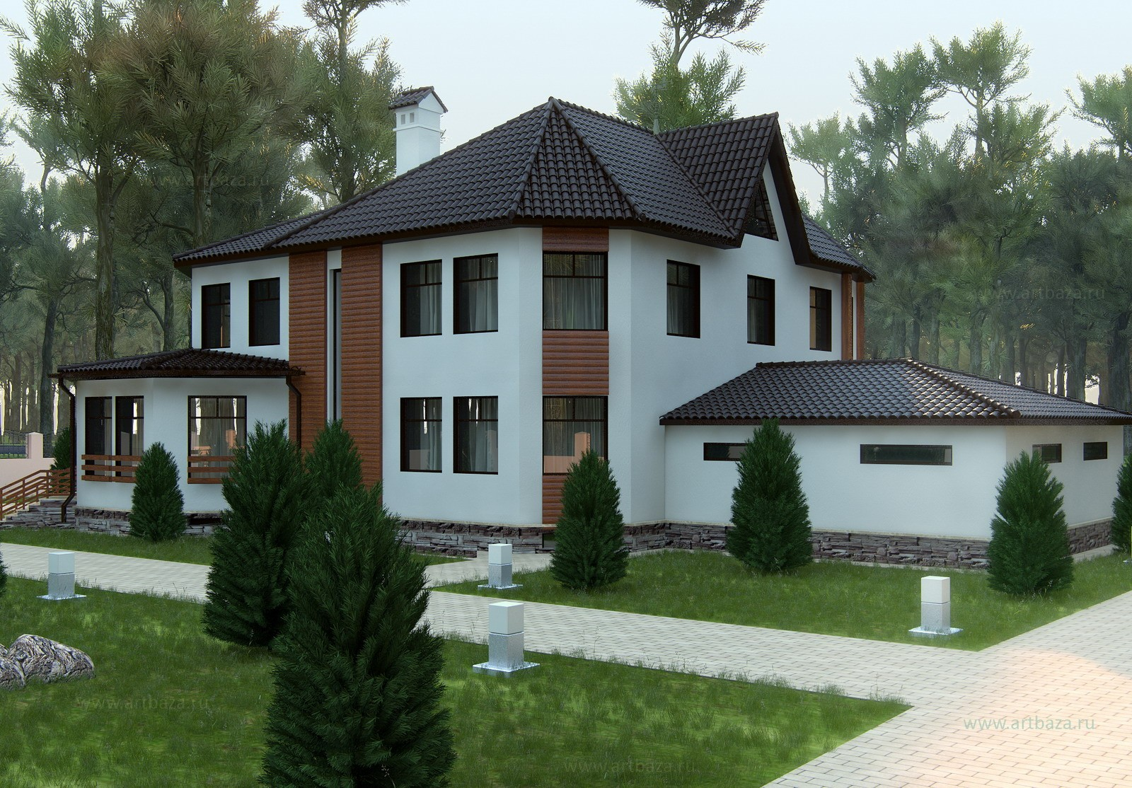 Дома коттеджи дизайн